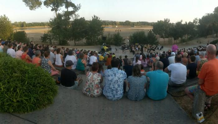Tameside Music Service perform on the banks of the Loire river
